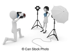 Studio clipart 3d on Illustrations session isolated
