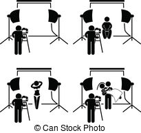 Studio clipart Photographer of and a set