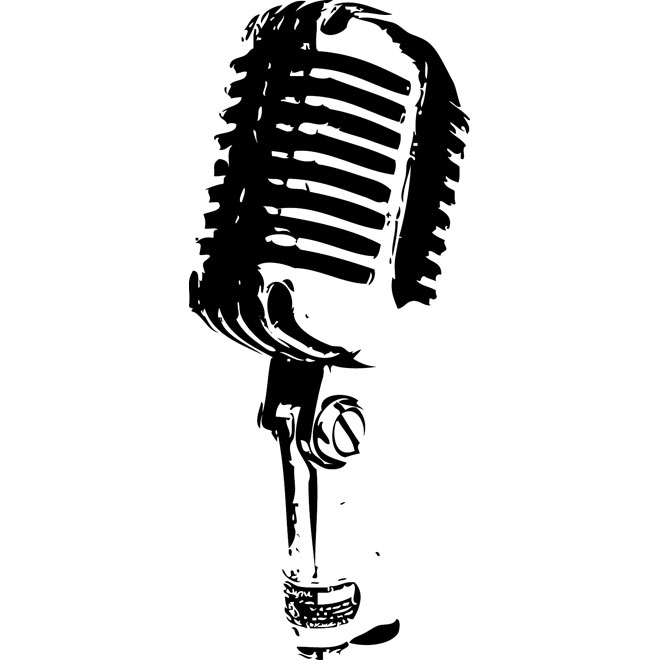 Drawn microphone vector Pictures Clipartix Microphone Clip Free