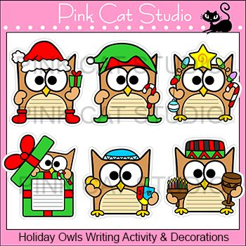 Owlet clipart hanukkah Theme about and Christmas Owl