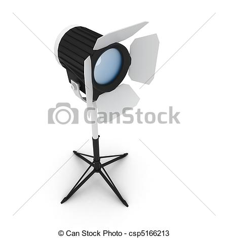 Actor clipart studio light Drawings 3d with csp5166213 on