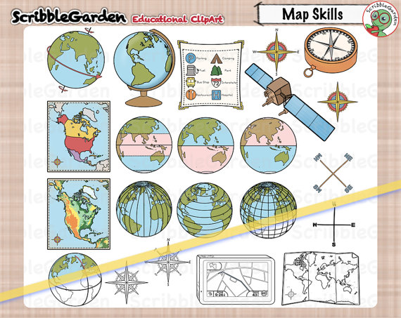 Geography clipart map skill Map ClipArt Skills on