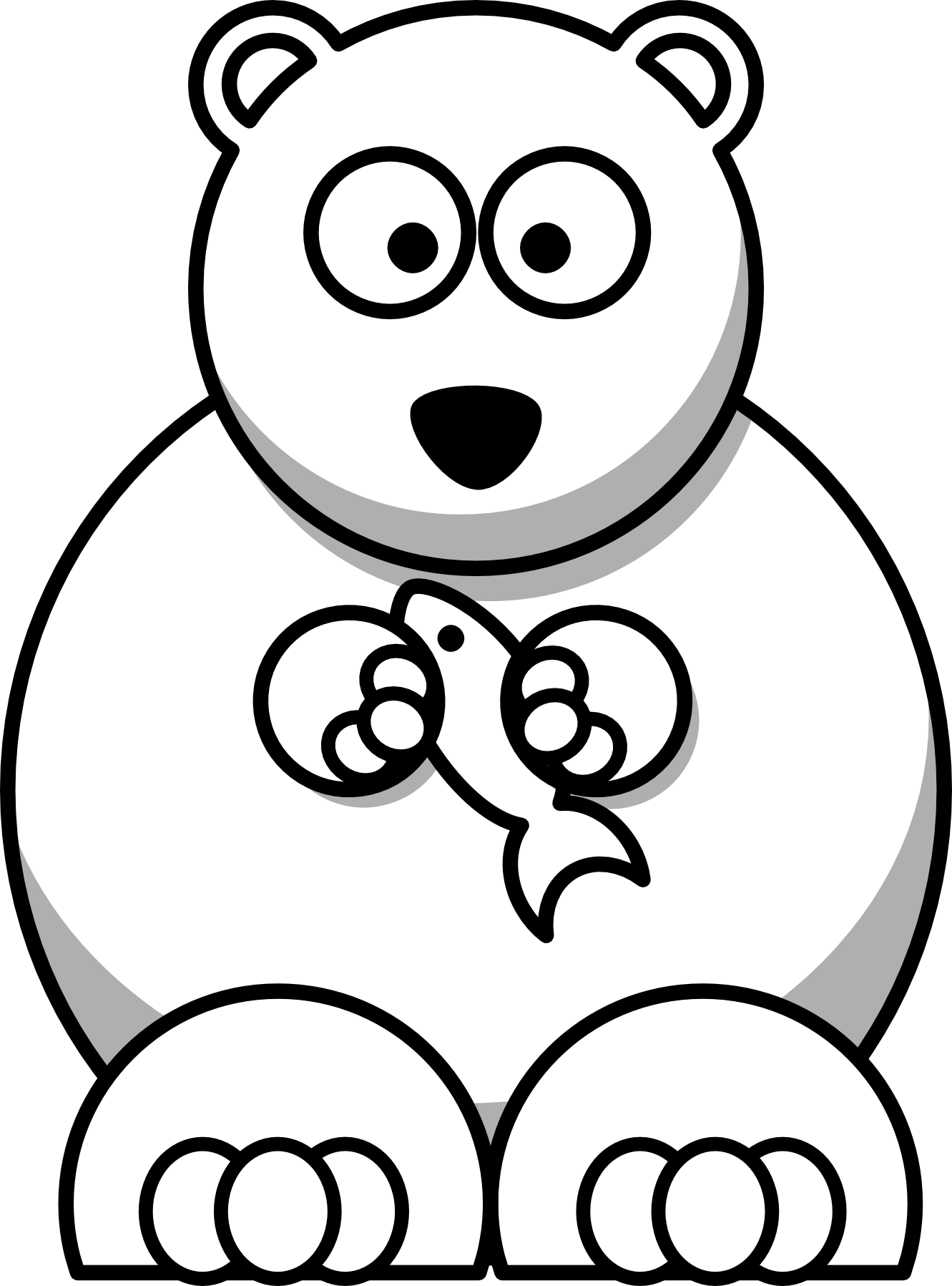 Drawn polar  bear clipart Xmas Bear png Line Stuffed