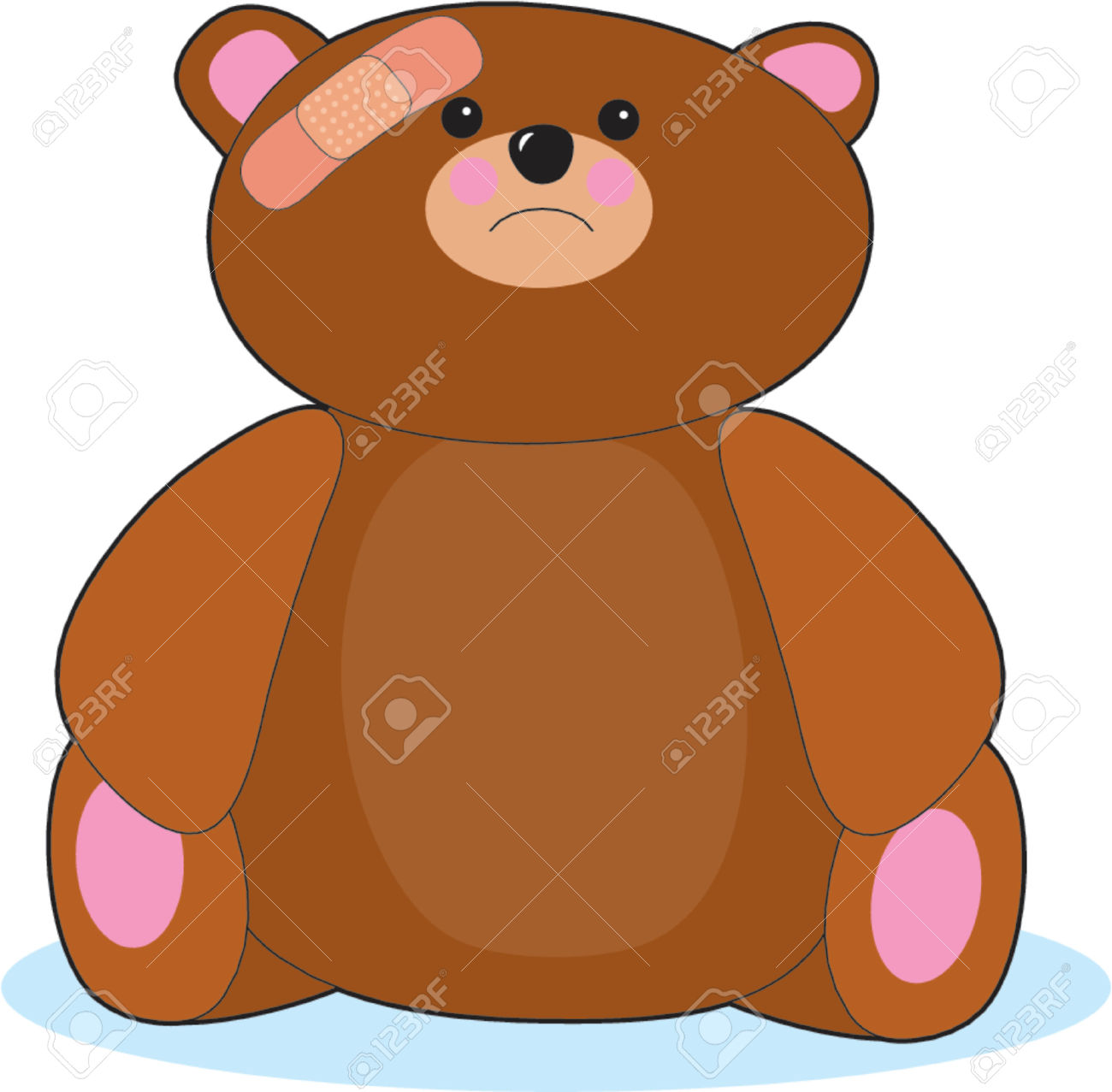Teddy clipart poorly #1