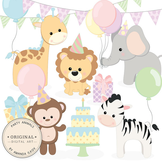 Animal clipart birthday Animals Clipart & Party Baby