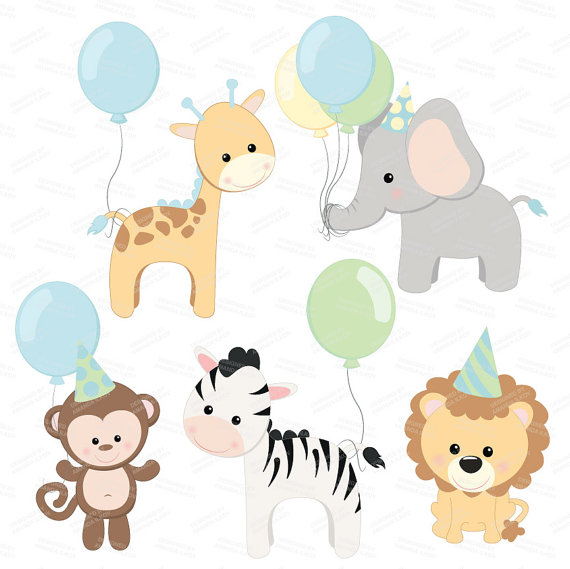 Animal clipart birthday Next Party item Baby Animals