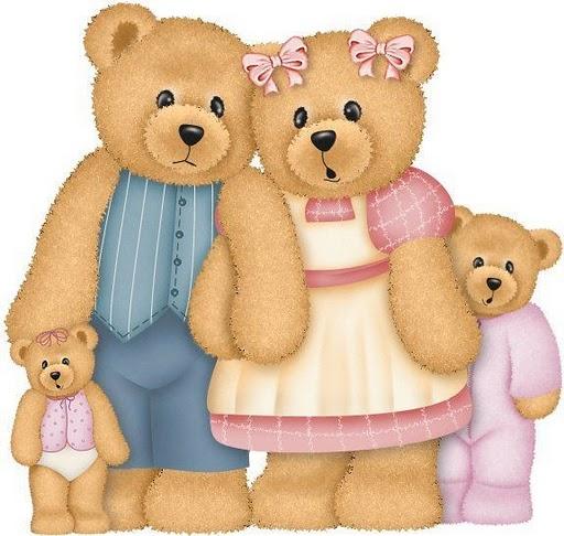 Teddy clipart family #1