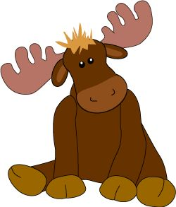 Wildlife clipart moose antler Toy Art Clip 48 Stuffed