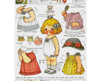 Doll clipart vintage doll Doll paper clipart Etsy dolls