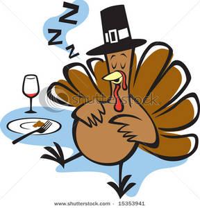 Thanksgiving clipart thanksgiving day Turkey Sleeping After Stuffed Dinner
