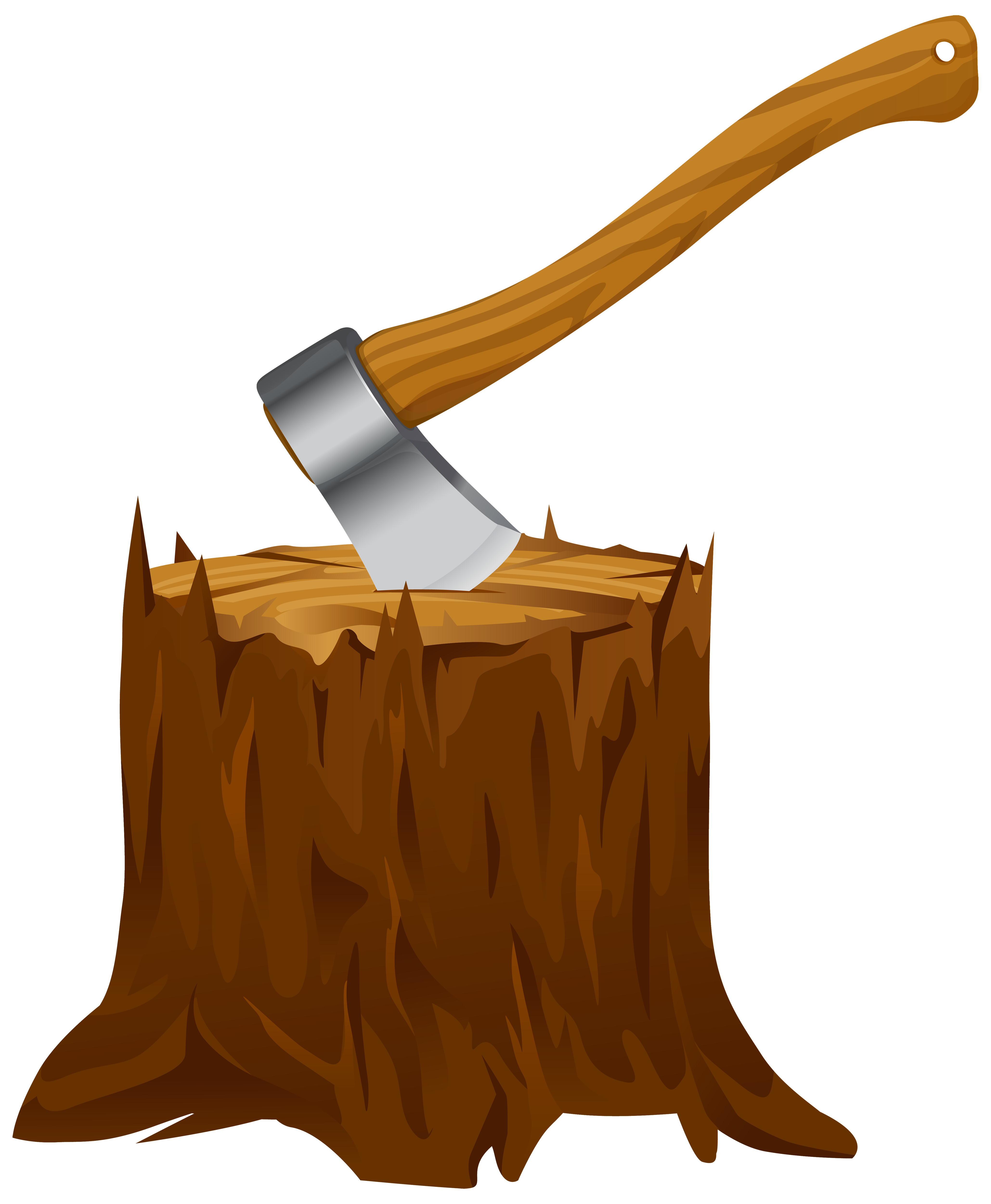 Axe clipart transparent PNG Stump View with Image