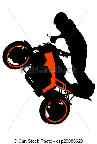 Stunt clipart motocross helmet Motorcyclist  biker Motorcyclists performed
