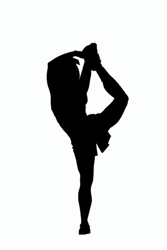 Stunt clipart black and white Clip Pictures Cheerleading Free Clipartix