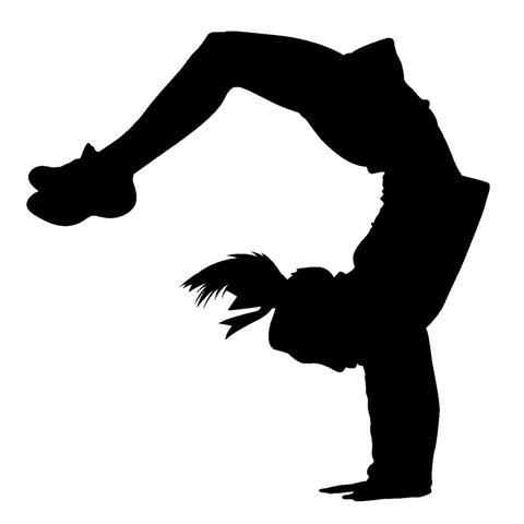 Stunt clipart black and white Art clipart Cheer Cheer collection