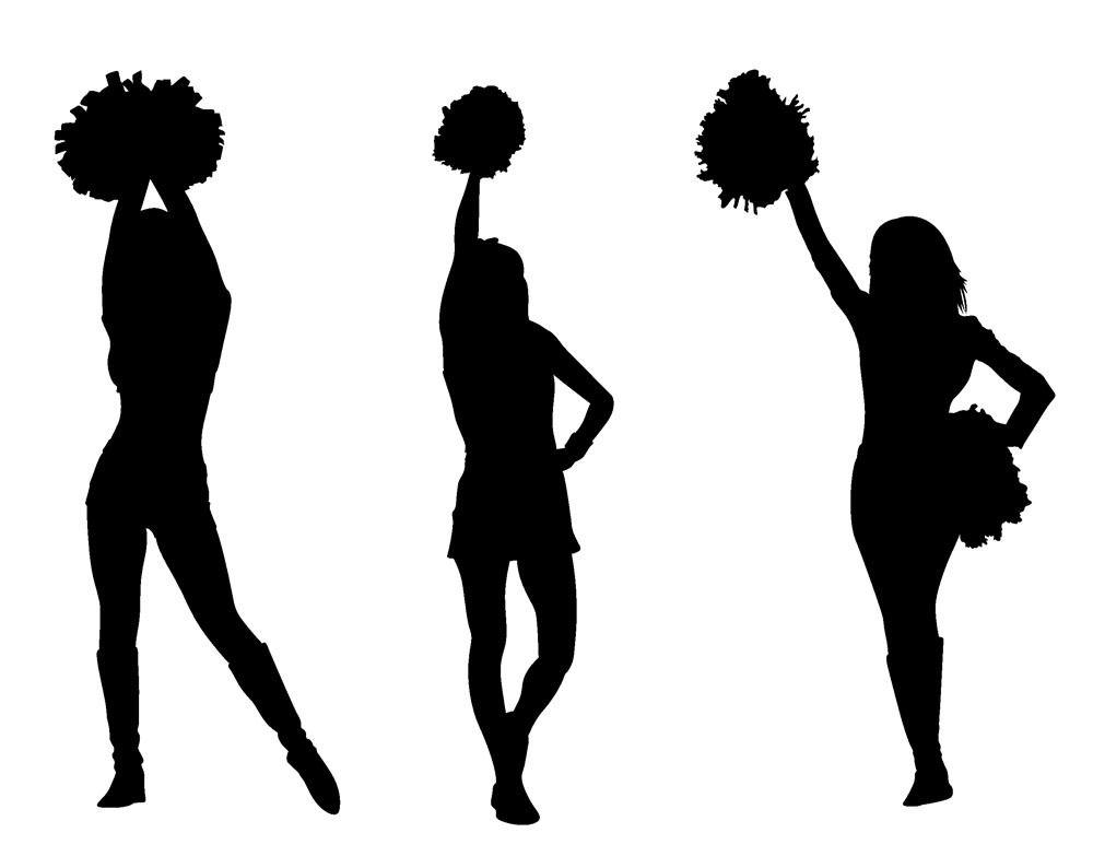 Club clipart cheer dance Stunt sillohette cheer clip collection