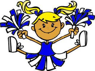 Stunt clipart blue cheer Free Art cheerleader Clip