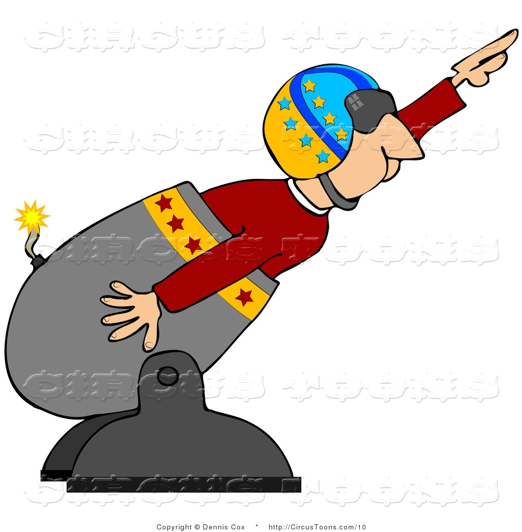 Stunt clipart cannon Djart a of Circus Circus