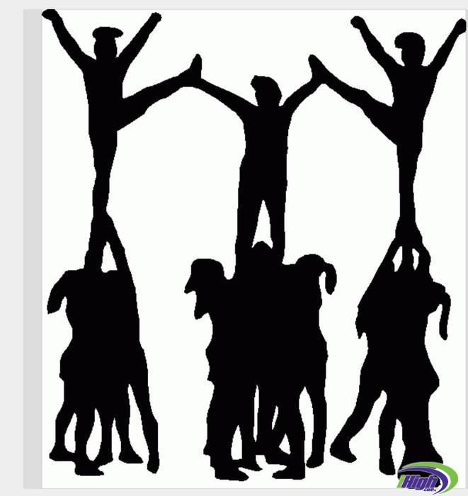 Club clipart cheer dance Download Clipart Team Cheerleader Clip