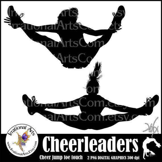 Stunt clipart drawing cheer Best spirit Cheer Silhouettes cheer
