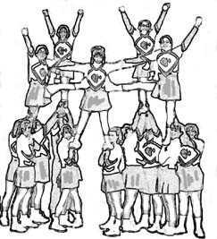 Stunt clipart drawing cheer CheerPlace: (15984 Stunting spider_stunt_line bytes)