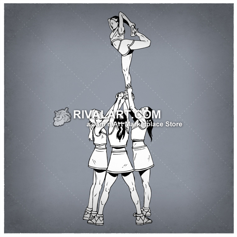 Stunt clipart drawing cheer Performing of A A Performing