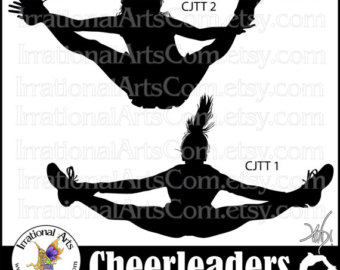 Stunt clipart drill team Silhouettes graphics 3 6 Silhouettes