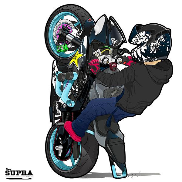 Stunt clipart yamaha On Stunts 12 Yamaha Illustration