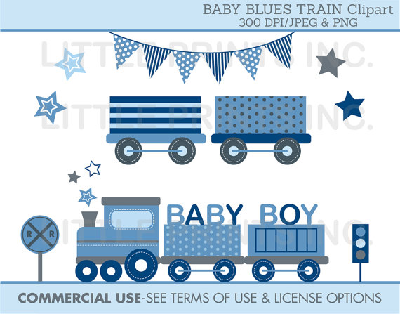 Train clipart baby boy #3