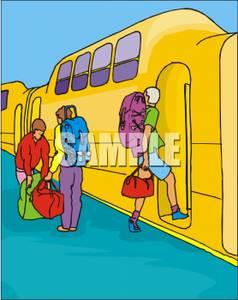 Subway clipart cartoon Subway Boarding a Train Royalty