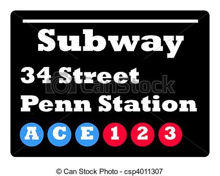 Subway clipart nyc subway Sign 34 subway York sign