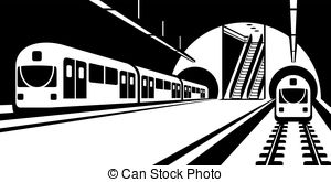 Subway clipart passenger train Passengers Illustration  Subway of