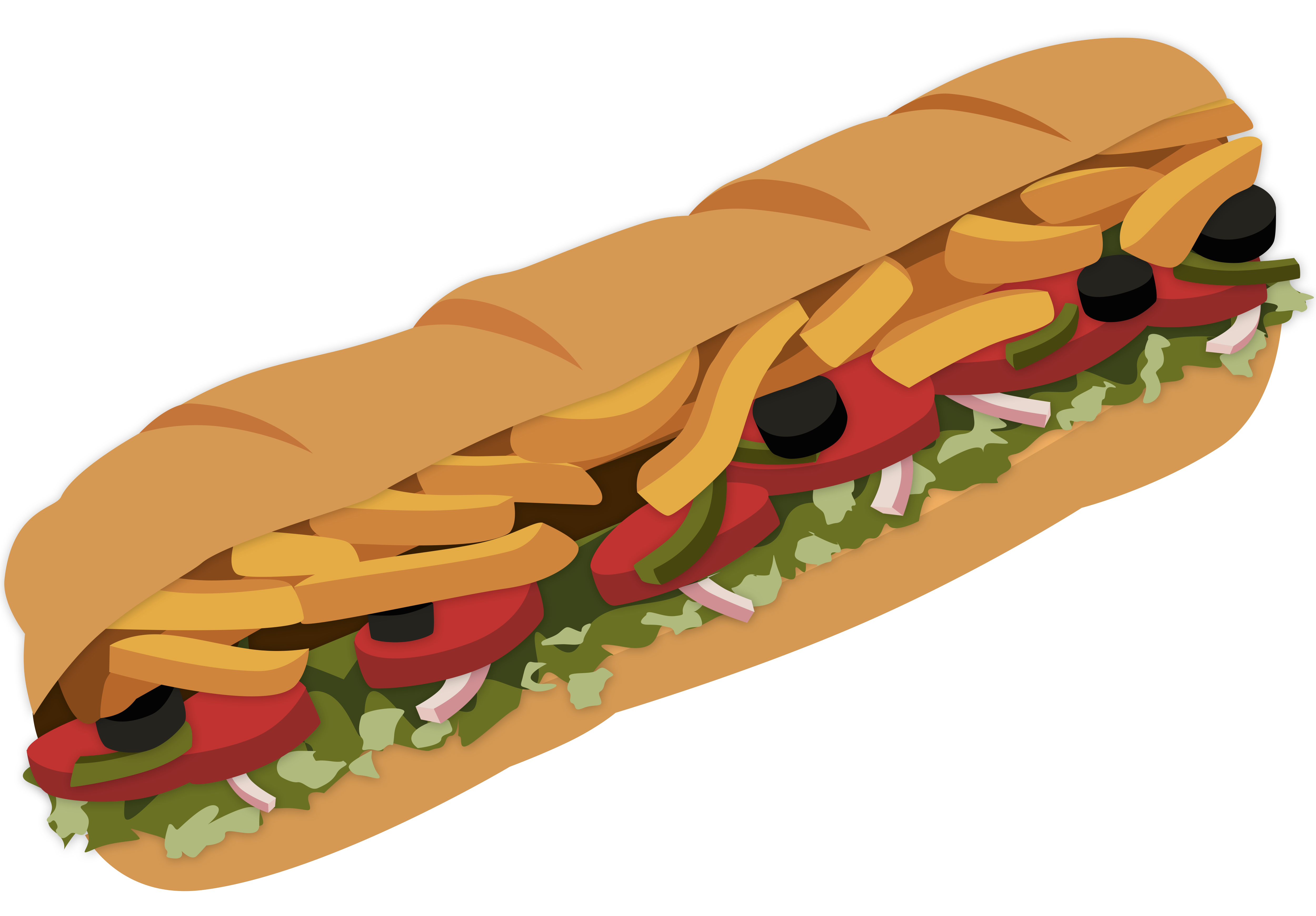 Bread Roll clipart sub sandwich Subway Sandwich DeviantArt MagicalMicrowaveOven Subway