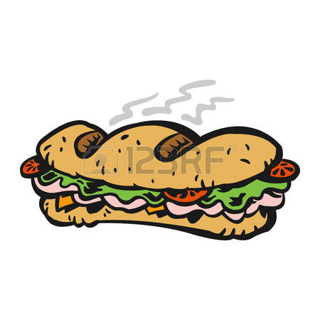 Sandwich clipart baguette Stock subway Vector collection Subway
