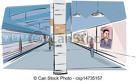 Building clipart subway station  Subway Illustration Station Station