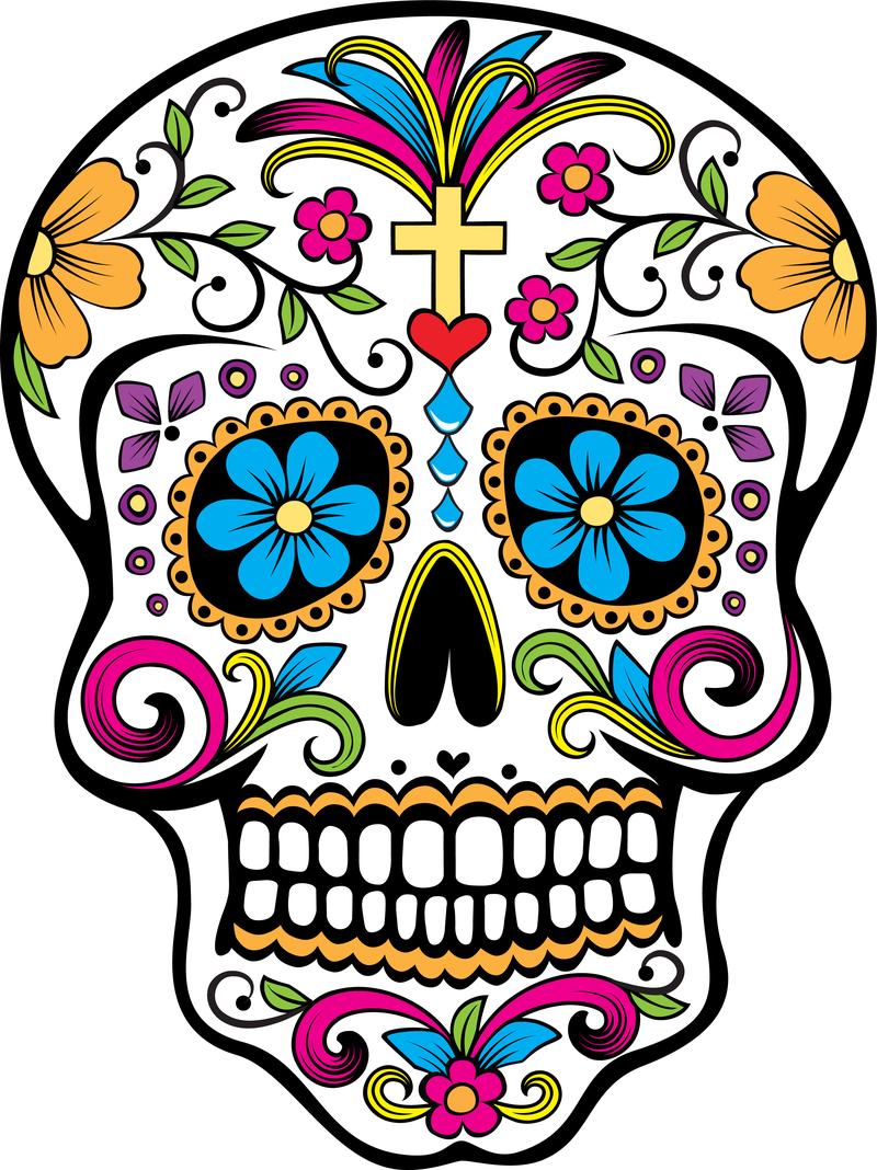 Sugar Skull clipart White Best Clip Skull Images