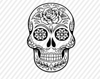 Sugar Skull clipart Skull cricut sugar file art
