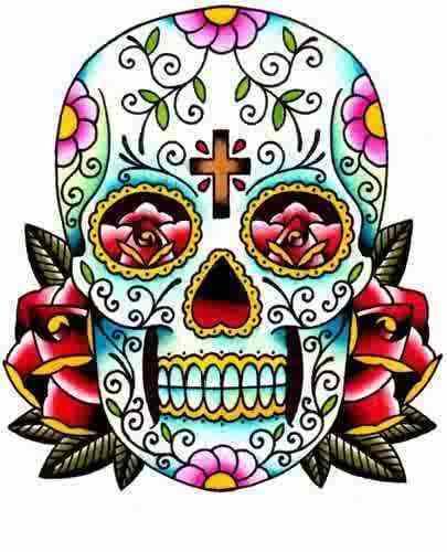 Sugar Skull clipart Skulls Drawings Sugar Clipart Clipart