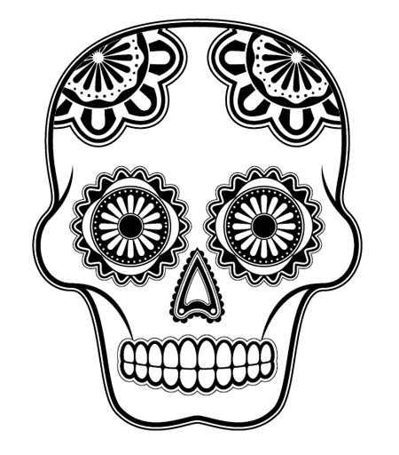 Drawn skeleton dia de los muertos Detailed Create How How To