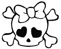 Sugar Skull clipart bow Pages skulls Colouring bow
