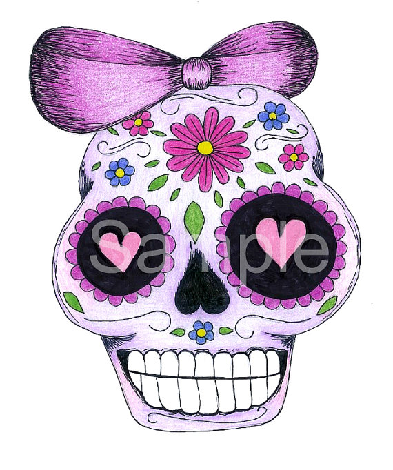 Sugar Skull clipart bow Skull Sugar Sugar by
