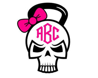 Sugar Skull clipart bow Files Kettlebell Cricut svg Free