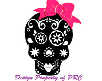Sugar Skull clipart bow Bow Sugar skull Sugar tablet