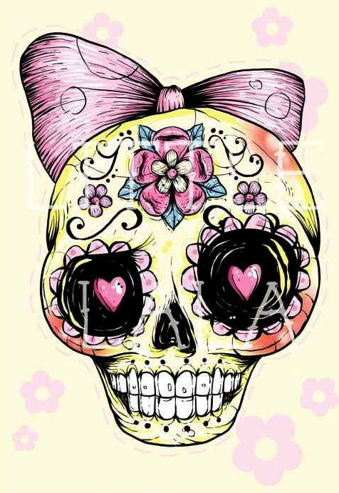 Sugar Skull clipart bow GIRLY 29 (236×255) jpg AND