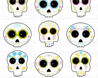 Sugar Skull clipart boy Mexico included Download skull files