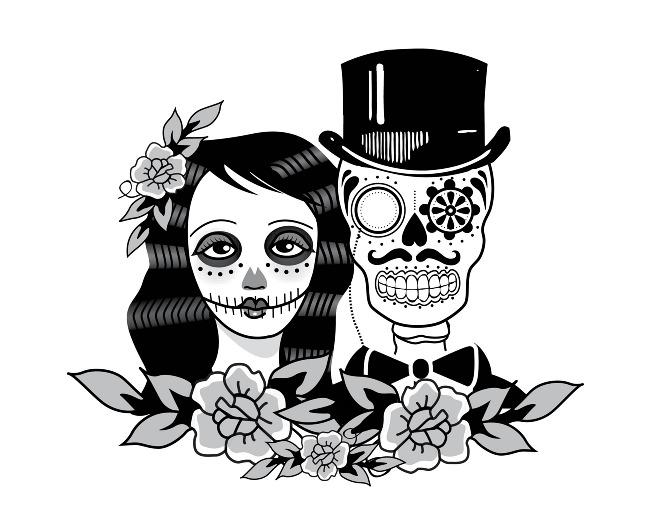 Sleleton clipart bride and groom Tats ideat Wedding Wedding Logo