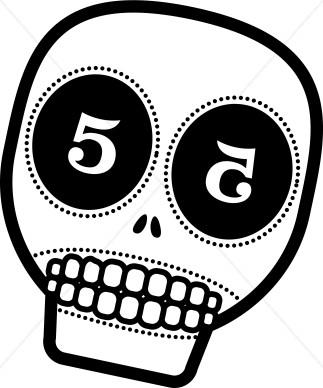 Sugar Skull clipart cinco de mayo Mexican Clipart Clipart Mayo de