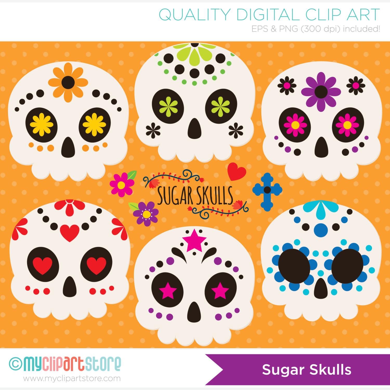 Sugar Skull clipart cinco de mayo / Sugar Day the Cinco