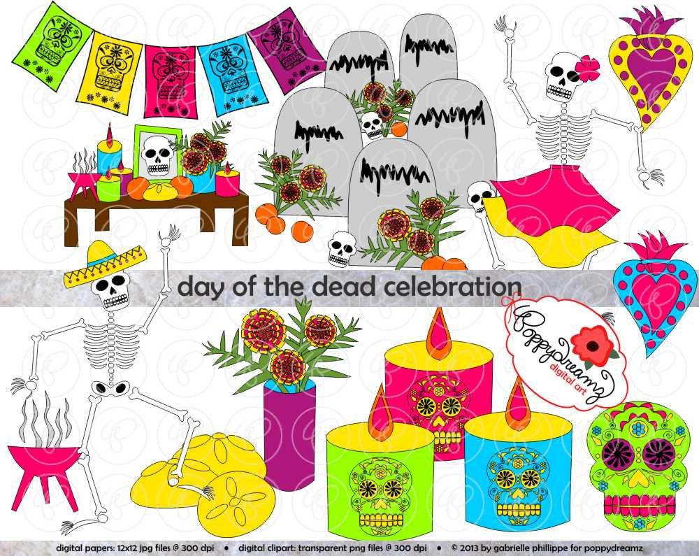 Day Of The Dead clipart cinco de mayo Art Pack the Muertos) de