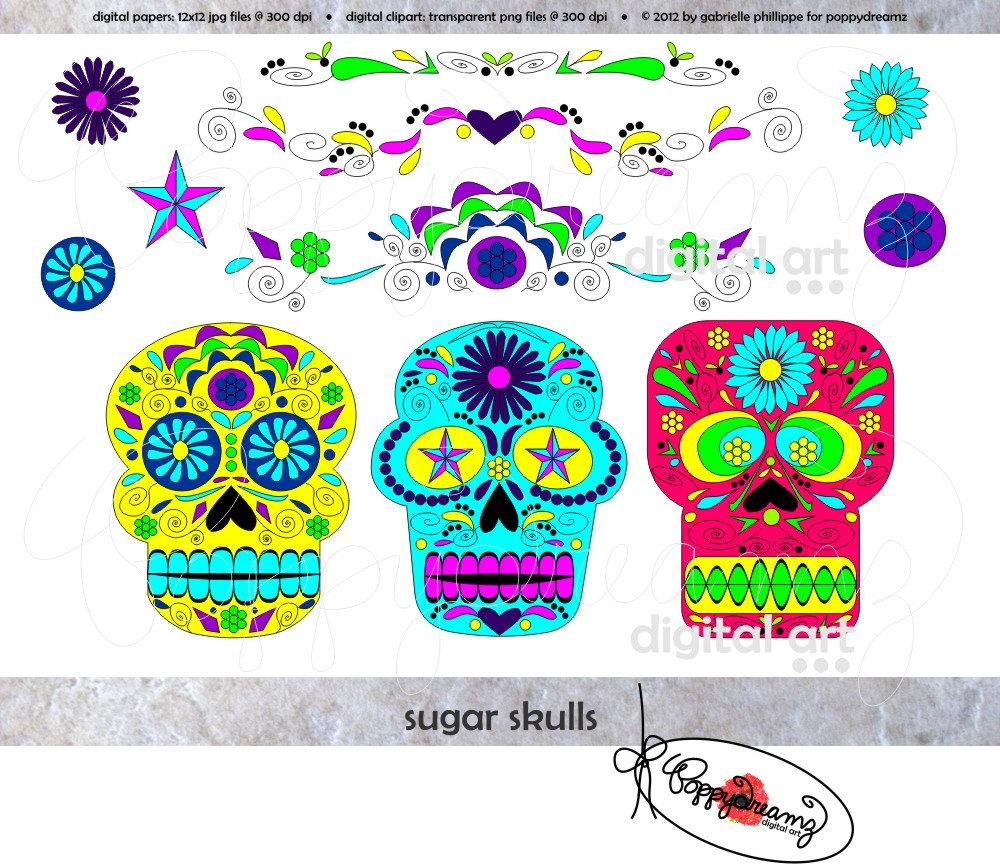 Sugar Skull clipart cinco de mayo Clip Sugar Sugar Etsy clipart
