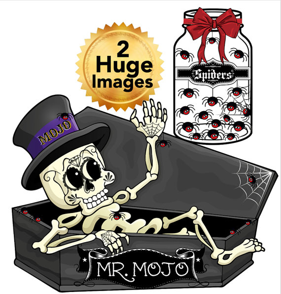 Sugar Skull clipart creepy Casket skeleton Art creepy scary